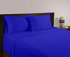 USA 1000TC EGYPTIAN BLUE SOLID AMERICAN BEDDING SHEETS COLLECTION 100% COTTON -E