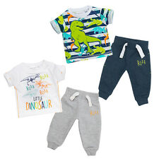 Baby Boys T Shirt Top Jogpants 2 Piece Set Dinosaur Dino Cotton Gift set 0-24Mth
