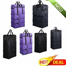 "36""/40"" Expandable Rolling Wheeled Duffel Bag Spinner Suitcase Duffle Bag Luggag"