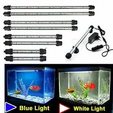 Aquarium Fish Tank Light Blue/White Bar Submersible Waterproof Clip Lamp Decor E