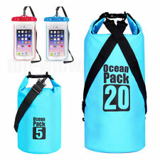 Waterproof roll top Floating Dry Bag Sack for kayaking Pouch Canoe Boating 20L