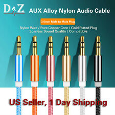 3FT 1M 3.5MM MALE TO MALE AUX STEREO AUDIO CABLE CORD FOR PC/IPHONE/IPOD/MP3/CAR