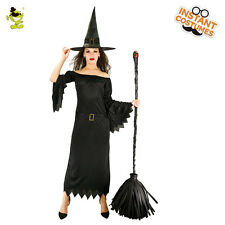 Adult Queen Of Vampire Witch Costume Gothic  Black Fancy Dress Costumes