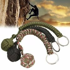Monkey Fist Chain Keyring Steel Ball for Lanyard Survival Self Defence Outdoor