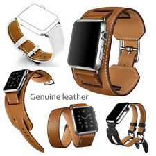 Cuff  Herme Genuine Leather watch Band Wrist Strap Bangle For Apple watch
