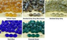 50pcs Matte Crystal Frosted Large Pinch Bicone Faceted Czech Glass Beads Spacer