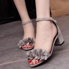 Women High Heel Ankle Strap Thick Heel Sandal (Size 35-39)