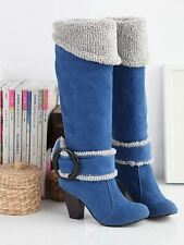 Women Winter Warm Over Knee High Heel New Fashion Boots Size 34-43