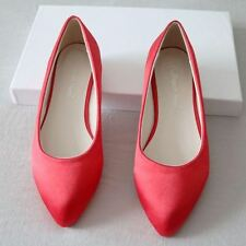Pointed Toe Flat Heel Wedding White and Red Color Plus Size Flat for Women