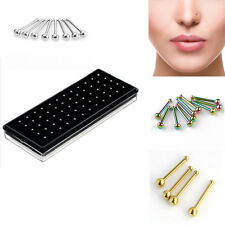 Fashion 60 Pcs/lot Simple Silver Ball Nose Stud Rings Body Piercing Jewelry 2mm