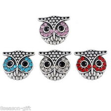 Wholesale Lots Owl Shape Snap Buttons Regualr Mixed Jewelry Necklace DIY