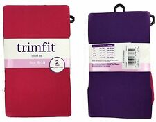 Trimfit Girls 2-pack Microfiber Tights Pink and Purple Size 10-14 OR 6-8