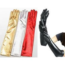 Sexy Wet Look 4 Color Latex Black/Red/white/silver PVC Long Gloves Bondage
