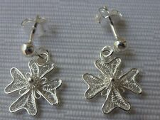 925 Sterling Silver Filigree Maltese Cross Earrings with pin New Style!!