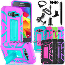 For Samsung Galaxy Core Prime/G360 Case Hybrid Hard Phone Cover w/ Accessories