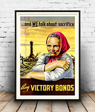 Buy Victory Bonds :  Vintage Wartime advertising,  Poster reproduction.