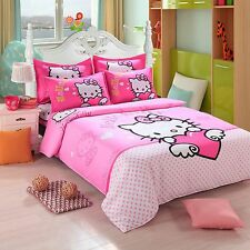 New Hello Kitty Bedding Duvet Quilt Cover Bedding Set Twin Full Queen Size