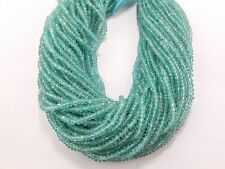 "13"" Natural Aqua Blue Apatite Faceted Rondelle Gemstone Beads strands 3mm-3.5mm"