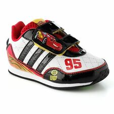 Adidas Disney Cars 2 I Toddler Shoes Size 4 White/Black/Red Lightning Mcqueen