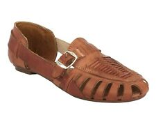 womens 772 real mexican brown huarache leather flip flop sandals slippers
