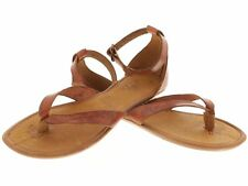 womens ankle gladiator style genuine leather brown huarache sandal buckle