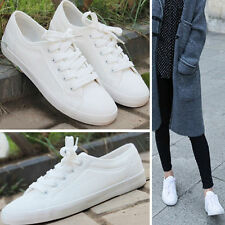 New Women's Breathable Shoes Canvas Casual Lace-Up Flats Sneakers Running Shoes