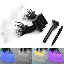 30 LED Solar Powered Fairy String Light Xmas Wedding Garden Party Patio Decor