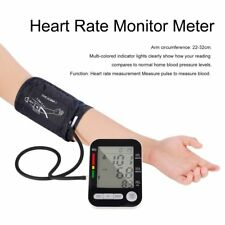 LCD Digital Upper Arm Blood Pressure Monitor USB Rechargeable Sphygmomanometer A