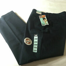 NWT Lee Relaxed Fit Curves Plain Front Straight Leg Stretch Jeans Sz.14 Short