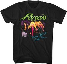 80's NOTHIN BUT A GOOD TIME Poison Glam Hair Metal Rock Band Licensed T-Shirt
