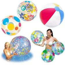 "NEW INFLATABLE BEACH BALL 16"" 20"" 24"" SWIM POOL BEACH PARTY HOLIDAY GARDEN"