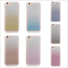 For Various Cell Phones Bling Glitter Gradient Crystal Clear Soft TPU Case Cover