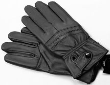 BLACK WOMEN'S LAMBSKIN LEATHER WINTER EVERYDAY DRIVING GLOVES MEDIUM LARGE
