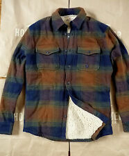 NWT Hollister by Abercrombie&Fitch Men's Sherpa Lined Flannel Shirt Plaid Jacket