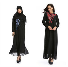 Muslim Long Sleeve Abaya Kaftan Jilbab Muslim Maxi dress Islamic Cocktail dress