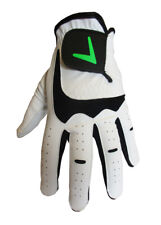 BRAND NEW MENS LEATHER CABRETTA PALM GOLF GLOVE WITH GREEN V LOGO LEFT HANDED
