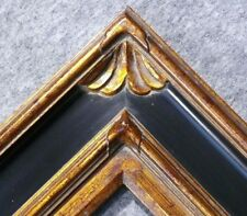 "4.75"" WIDE Gold and Black Ornate Oil Painting Wood Picture Frame 278BPG"