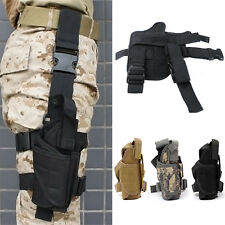 Adjustable Tactical Hunting Molle Pistol Gun Drop Leg Thigh Holster Radio Pouch