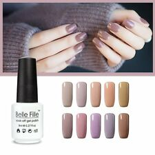 BELLE FILLE Nail Art Gel Polish Varnish Soak-off UV LED Manicure DIY Nude Series
