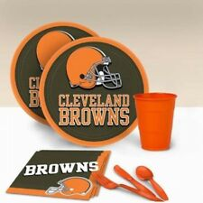 Cleveland Browns Tableware Party Pack for 16. Best Price