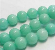 4-10mm   Brazilian Aquamarine Gemstone Round Loose Bead 15""