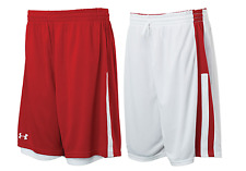 Under Armour mens Undeniable reversible Basketball Shorts  Red / White 3xl