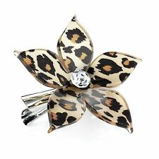 New Ladies Shiny Rhodium & Silver Crystal Design Hair Clips Hair Accessories