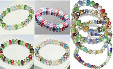 Loose 8mm Stretch Bangle Multicolor Bracelet Faceted Woman Crystal Beads