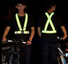High Visibility Reflective Adjustable Safety Security Vest Gear Stripes Jacket