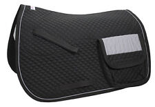 Derby Reflective AP English Horse Saddle Pad Quilted with Pockets