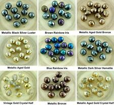 10pcs Large Round Czech Glass Beads Fire Polished Faceted Christmas 12mm