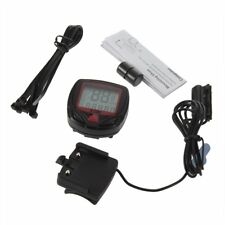 Digital Bicycle Bike LCD Cycling Computer Odometer Speedometer Stopwatch New XP