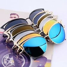 Women Mirrored Lenses Designer Retro Vintage Cat Eye Oversized Sunglasses LOT XP