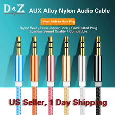 3ft 3.5mm Aux Stereo Audio Cable Cord Rose Gold Wire Jack Headphone iPod Car MP3